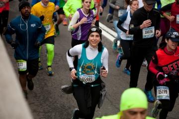 NYC Half woman runner