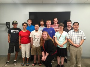 Theresa Piccolo, pictured here with her soft skills group, is the autism services program coordinator for ServiceSource.