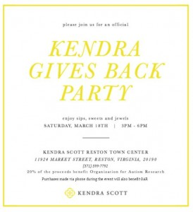 Kendra Gives Back Party @ Kendra Scott Reston Town Center