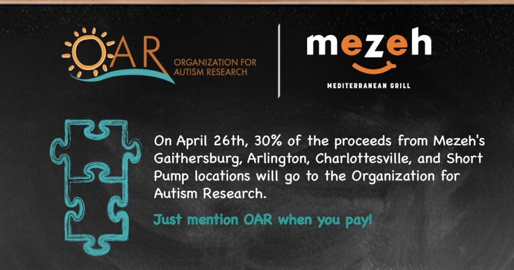 Eat at Mezeh to Support OAR @ Mezeh Mediterranean Grill