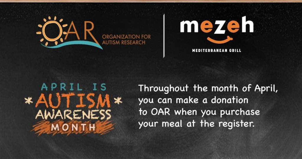 Donate to OAR at Mezeh Mediterranean Grill @ Mezeh Mediterranean Grill