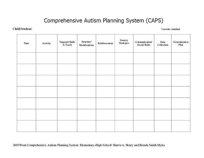 Planning For A Successful Day Comprehensive Autism Planning